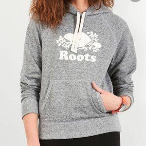 Roots grey hooded sweatshirt